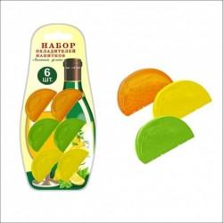 Набор 6 охладителей д/напитков Лимонные дольки (упак.12шт)