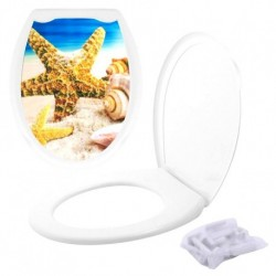 Сиденье для унитаза с крышкой Пляж (упак.20шт)