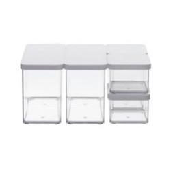 Набор контейнеров Premium Dosen 5 пр. серый LOFT
