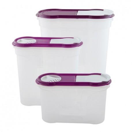 Набор банок 3шт. д/сыпучих продуктов (овал) 1,3л+2,2л+4,0л