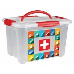 Коробка универсальная с ручкой и декором Аптечка 5,5л