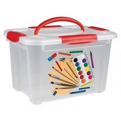 Коробка универсальная с ручкой и декором Детское творчество 5,5л