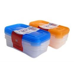 Комплект 3 контейнера для СВЧ 0,7 л КАСКАД