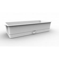 Ящик для рассады Flora с поддоном 3,9л. 407,1х164,4х88,8мм (снежно-белый)