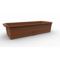 Ящик для рассады Flora с поддоном 3,9л. 407,1х164,4х88,8мм (терракот)