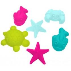 Набор формочек Море для игры с песком 6 штук