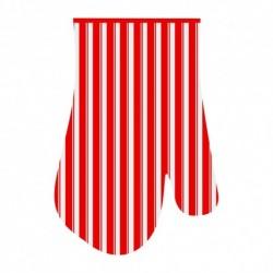 Прихватка-рукавица Полоски 17*27см (красн.) (упак. 12шт)