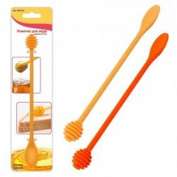 Ложечка для мёда 2цв. L25см (упак. 12шт)