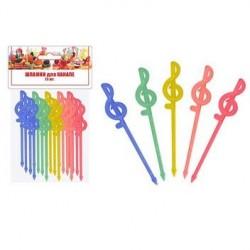 Шпажки для канапе Скрипичный ключ. Набор 20шт. (длина 81мм) (упак. 10шт)