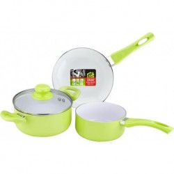 Набор кух. посуды,4 пр.,алюм.,ст.кр.,бакелит. руч.,внутр. керамическое покрытие