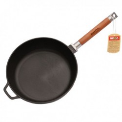 Сковорода чугун d26см h6.6см глуб съем/руч