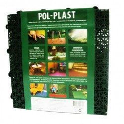 Покрытие POL-PLAST зеленый 1м2 (9шт)
