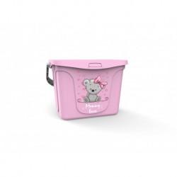 Емкость для игрушек Mommy love 6 л (нежно-розовый)