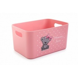 Корзина для детских игрушек Mommy love (нежно-розовый) 228*158*121 мм