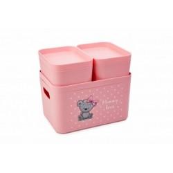 Набор органайзеров Mommy love (нежно-розовый) 228,3*158,8*138*2 мм