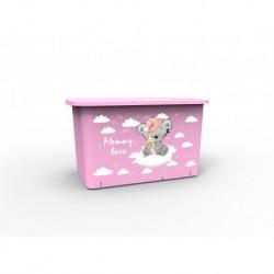 Контейнер для игрушек Mommy love (нежно-розовый)