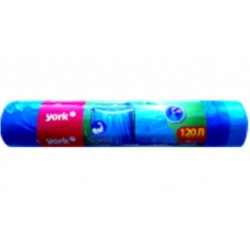 Мешок для мусора YORK 120 л. (10 шт) с тесьмой