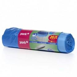 Мешок для мусора YORK 20 л. (20 шт) с тесьмой