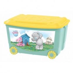 Ящик для игрушек на колесах с аппликацией Me to You 580х390х335мм