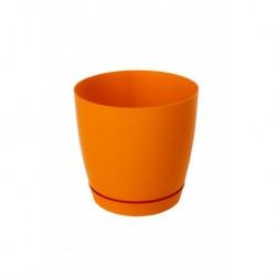 Горшок для цветов ФРЕЗИЯ 1, 2л h с под.-145мм, d-низ 115мм, верх 150мм, Апельсин
