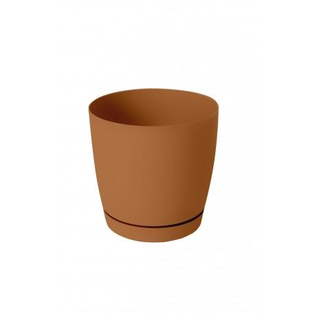 Горшок для цветов ФРЕЗИЯ 2, 3л h с под.-170мм, d-низ 85мм, верх 120мм, Карамель
