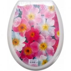 Сиденье для унитаза пластик ФОТОПРИНТ Цветы