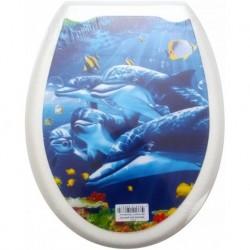 Сиденье для унитаза пластик ФОТОПРИНТ Дельфины