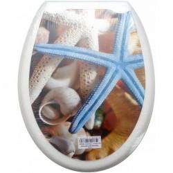 Сиденье для унитаза пластик ФОТОПРИНТ Морская звезда