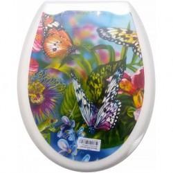 Сиденье для унитаза пластик ФОТОПРИНТ Бабочки