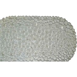 Коврик-SPA 69*39см КАМУШКИ С РАКУШКАМИ серебро
