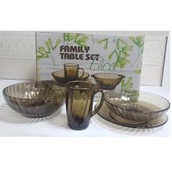 Набор посуды стекл 19 предметов Elica