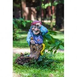 Фигура Баба-Яга с веником 33*33*57см