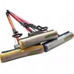 Швабра отжимная цветная , ручка 108 см, губка 27см сталь/пластик