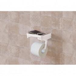 Держатель для туалетной бумаги с полочкой 185х110х140мм белый
