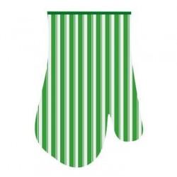 Прихватка-рукавица Полоски 17*27см (зелен.)