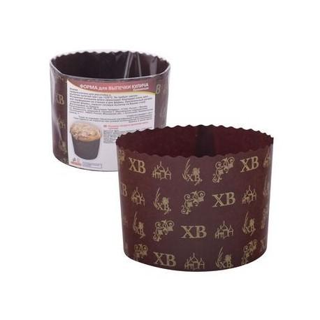 Форма для выпечки кулица бумаж. 3шт 11*8,5см