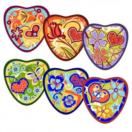 Прихватка Сердечки (сердце) 6 диз