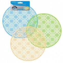 Коврик в раковину Паутинка (круг) D28см 3цв