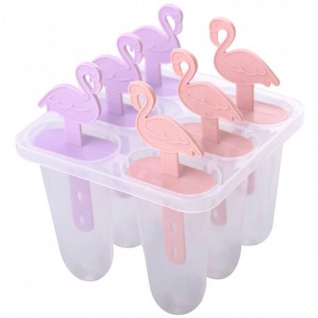 Формы для мороженого Фламинго 6 ячеек.