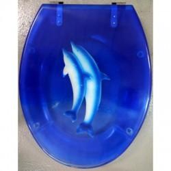 Сиденье для унитаза ZALEL Aqua (прозрачная с рисунком)
