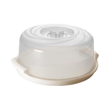 Крышка для СВЧ Bono с паровыпускным клапаном D250 с поддоном натуральный/сливочный крем