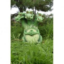 Фигура Змей Горыныч зеленый 46х40х57см