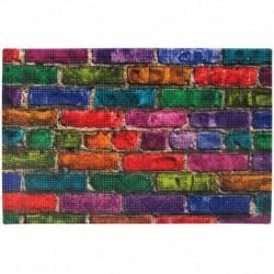 Коврик придверный грязезащитный Фотопринт Лофт цветной 45*75см