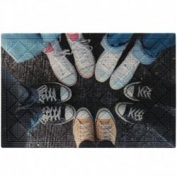 Коврик придверный грязезащитный Фотопринт Ноги в Кедах 40*60см
