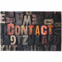 Коврик придверный грязезащитный Фотопринт Контакт Буквы 40*60см
