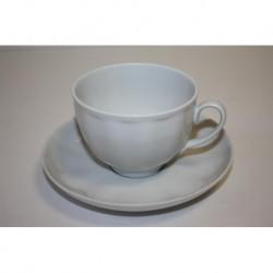 Чашка чайная с блюдцем Гранатовый 275 мл Белая