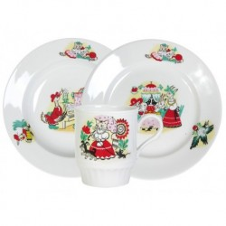 Набор посуды 3 пр.Кошкин дом (т.мел.200 мм, т.гл.200 мм, кр.210 мл) Русское поле