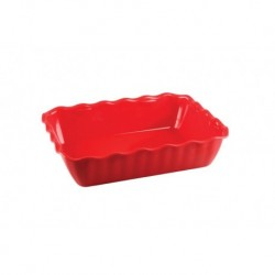 Салатник с волнистыми краями 2 л, 260х175х80, красный