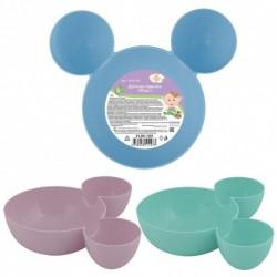 Детская тарелка Маус 3цв