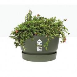 Миска с прикрепл. поддоном d33, h20см зеленый лист (leaf green) (ш/к 2464)